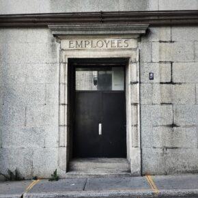 Employees entrance.
